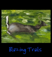 Blazing Trails - 24x36 Acrylic on Stretched Canvas with Image Wrap Border - Painting by Greg Schwab
