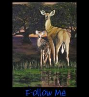 Follow Me - 30x40 Acrylic on Stretched Canvas with Image Wrap Border - Painting by Greg Schwab