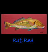 Rat Red - 16x36, Acrylic on Stretched  Gallery Wrap Canvas - Painting by Greg Schwab
